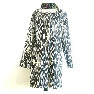 Dennis Basso classy trench dress coat Large